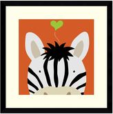 Amanti art ''Peek a Boo Zebra'' Framed Wall Art