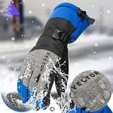 Vector Windproof Water Rebellent Warm Thermal Snow Gloves Skiing Snowboarding Ski Gloves Men Winter Gloves Men(XL, )