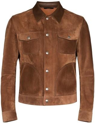 Tom Ford Press-Stud Shirt Jacket