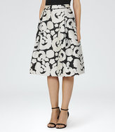 Reiss Drew Jacquard Midi Skirt