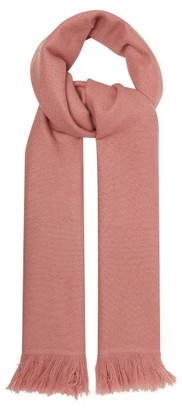 Isabel Marant Carlyn Fringed Cashmere Scarf - Womens - Light Pink