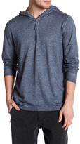 John Varvatos Button Pullover with Hoodie