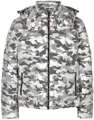 49winters 49WINTERS The Down Camouflage Quilted Shell Jacket