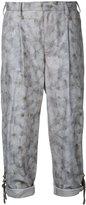 Kolor floral print cropped trousers - women - Cotton/Polyurethane - 2