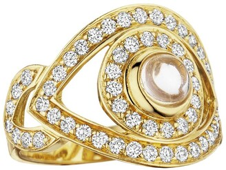 Netali Nissim Yellow Gold and Diamond Eye Ring