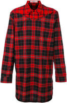 Givenchy contrast check long shirt
