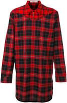 Givenchy contrast check long shirt
