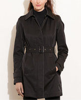 Lauren Ralph Lauren Faux-Leather Trim Raincoat