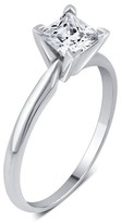 1.0 CT. T.W. IGL certified Princess-cut Diamond Solitaire Prong Set Ring in 14K Gold (HI-I3)
