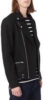 Topman Men's Wool Blend Biker Jacket