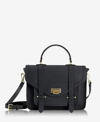 GiGi New York Hayden Satchel In Black Pebble Grain
