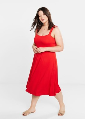 MANGO Violeta BY Ruffled detail dress red - 12 - Plus sizes