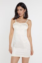 Nasty Gal Womens I Got You Babe Bustier Mini Dress - White - 8, White