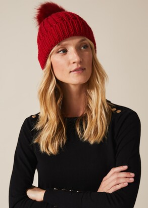 Phase Eight Caris Cable Knit Hat
