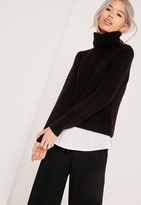 Missguided 2 in 1 Sweater Black