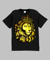 Micro Me Black Royal Lion Tee - Infant Toddler & Boys