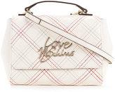 Love Moschino stitched logo shoulder bag - women - Polyurethane - One Size