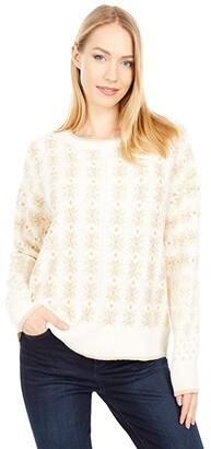Lucky Brand Shine Fair Isle Pullover (Cream Multi) Women's Clothing