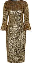 Michael Kors Sequinned Tulle Midi Dress - Gold
