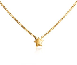Hargreaves Stockholm To The Moon & Back - 18Ct Gold Single Star Pendant