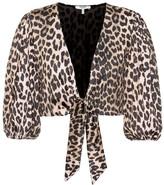 Ganni Avalon leopard bikini top