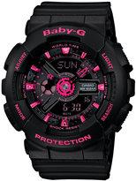 Baby-G Women's Analog-Digital Black Resin Strap Watch 46x43mm BA111-1A