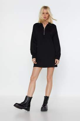 Nasty Gal Womens Don't Jumper It Zip Mini Dress - black - 8