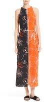 Diane von Furstenberg Women's Colorblock Print Silk Maxi Dress