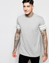 Brooklyn Supply Co. Brooklyn Supply Co T-Shirt Double Stripe Sleeve in Gray Marl