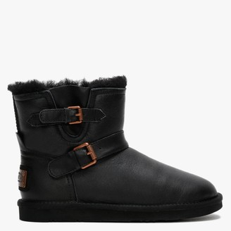 Australia Luxe Collective Machina X Short Black Double Faced Sheepskin Leather Ankle Boots