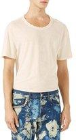 Gucci Cotton-Linen T-Shirt w/Embroidery, White