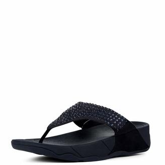 FitFlop Women's GLITZIE Toe-Thong Sandals Flip-Flop Midnight Navy 5 M US