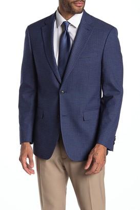Tommy Hilfiger Blue Red Check Two Button Notch Lapel Suit Separates Blazer