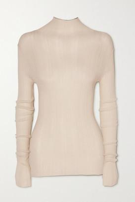 Totême Narano Ribbed-knit Turtleneck Sweater - Ivory