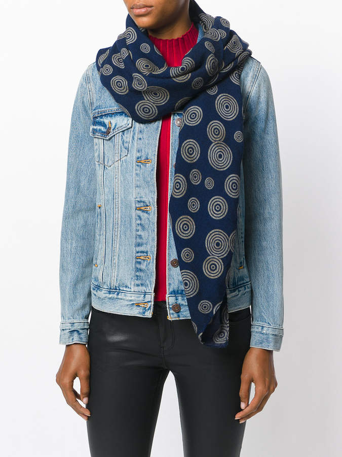 Golden Goose Deluxe Brand swirl embroidered scarf