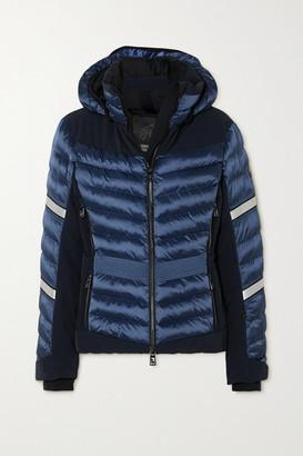 Toni Sailer Madita Splendid Hooded Quilted Padded Ski Jacket - Blue