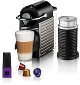 Nespresso by Breville Pixie Coffee Machine in Titanium with Aeroccino3