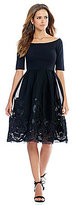 Gianni Bini Dana Off The Shoulder Embroidered Skirt Dress