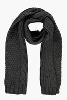 Boohoo Cable Knit Luxe Scarf