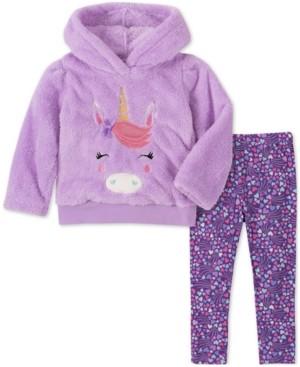 Kids Headquarters Baby Girls 2-Pc. Unicorn Fleece Hoodie & Printed Pants Set