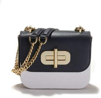 Tommy Hilfiger Two-Tone Leather Bag with Three-Tone/Gold Details