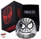 Marvel Men's Stainless Steel Spider-Man Face Ring With Jewelry Box (8 Size)