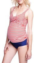 Maternal America Women's Ruched Maternity Tankini Swimsuit