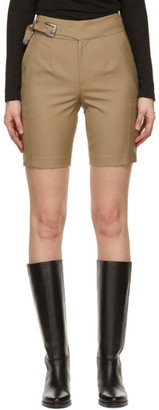 ANDERSSON BELL Beige Wool Biker Diego Shorts