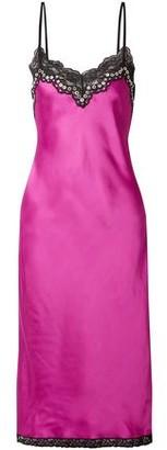 Alexander Wang Embellished Lace-trimmed Satin Slip Dress