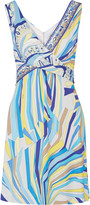 Emilio Pucci Draped printed stretch-jersey dress
