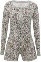 M&Co Leopard print pyjama playsuit