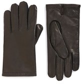 Hickey Freeman Men's Classic Contrast Leather Gloves