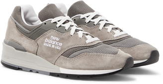 New Balance M997 Suede, Mesh And Leather Sneakers