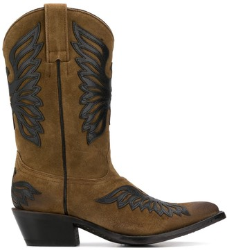Ash Wing Patch Western Boots